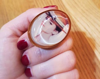 Audrey Hepburn ring copper / copper ring Audrey Hepburn
