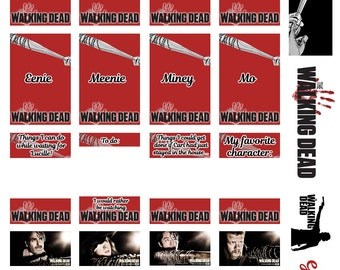 CLEARANCE*** Week Countdown to Lucille - The Walking Dead - Planner Printable Sticker Kit *Happy Planner, Kikki K, ECLP, etc*