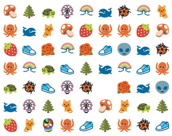 Full Color Emoji Weird Search Puzzle