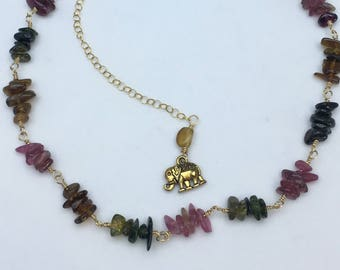 Tourmaline Gold Filled Necklace