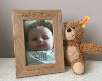 Personalised New Baby Photo Frame, Baby Photo Frame, New Baby Gift, Christening gift, Personalised Photo frame, newborn gift