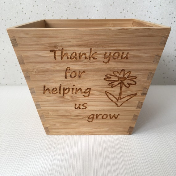 personalised teacher gift teacher plant pot thank you for etsy