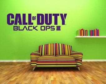 Call Of Duty Black Ops Wall Art Decal, Vinyl Decal, Modern Transfer, Gaming Logo