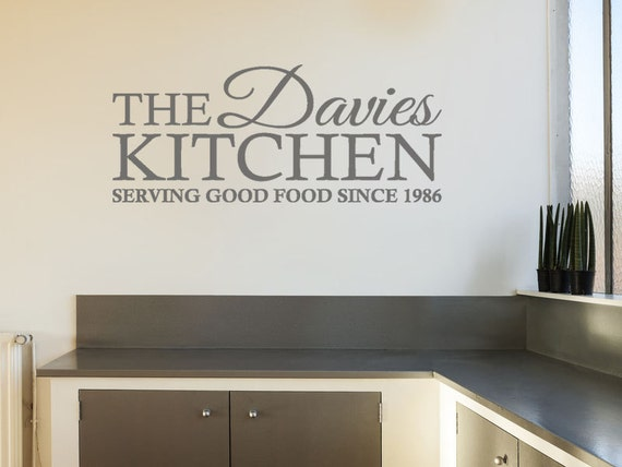personalised family kitchen wall sticker serving good   etsy