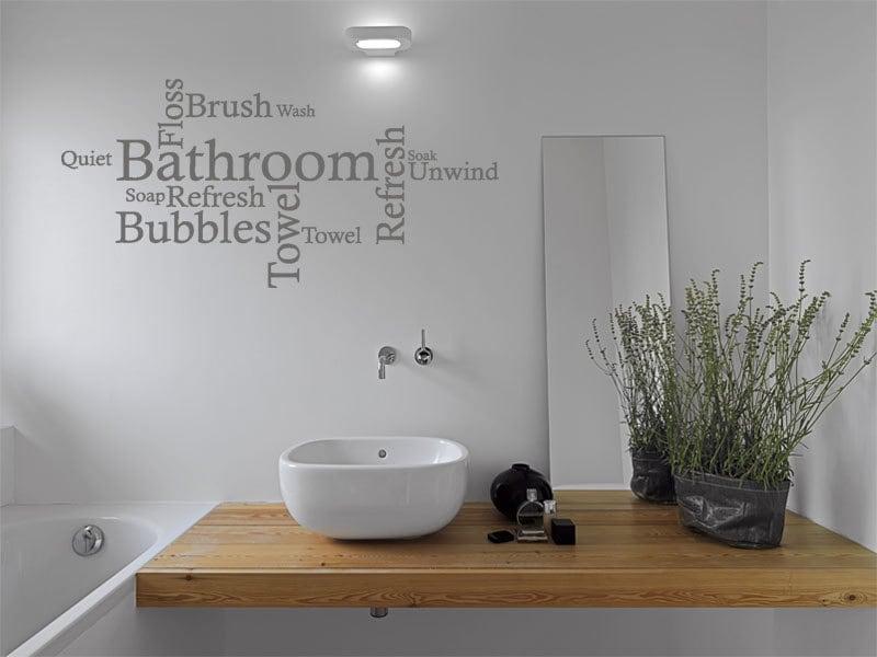 Citation de mur de salle de bain nuage de mot wall art etsy - Citation salle de bain ...