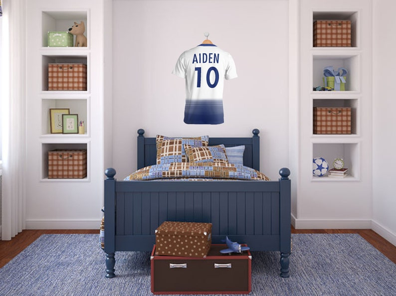 Transfer PVC Decal PERSONALISED  Football Wall Art Soccer 3D Sticker