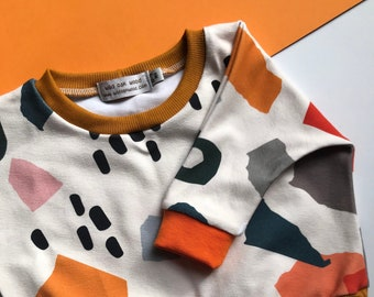 Baby Jumper / Baby Toddler Loungewear / Unisex Abstract Print / Newborn Baby Gift