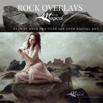 18 x Digital Rock Overlay Pack, Mermaid Rock pack, Stone rock digital Overlay, makememagical overlays, ocean rock overlays, mermaid png pack