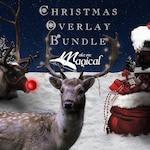 Christmas Digital Overlay Mega Bundle Pack, reindeer overlays, postbox overlays, santa hat overlays, chimney overlays, polar express train