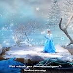 Winter digital backdrop, digital background, snow backdrop, princess backdrop, fantasy book backdrop, christmas backdrop, xmas background