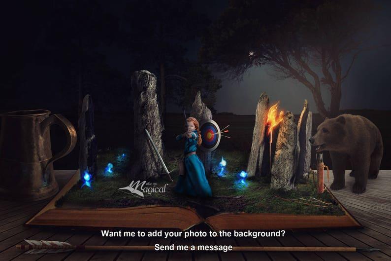 alice tinkerbell 18 x Princess digital backdrop pack snow white rapunzel digital backgrounds belle miniature book worlds backdrops
