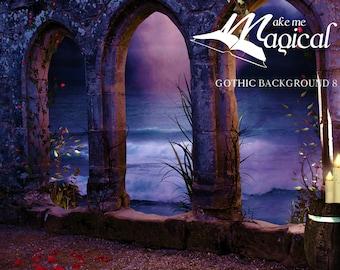 Digital Background | Digital Backdrop | Photo Background | Fairy Backdrop | Gothic | Halloween | Fantasy | Dark | Archways | Photoshop