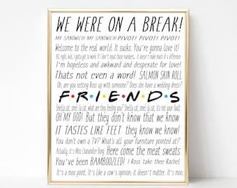 Friends Tv Show Etsy