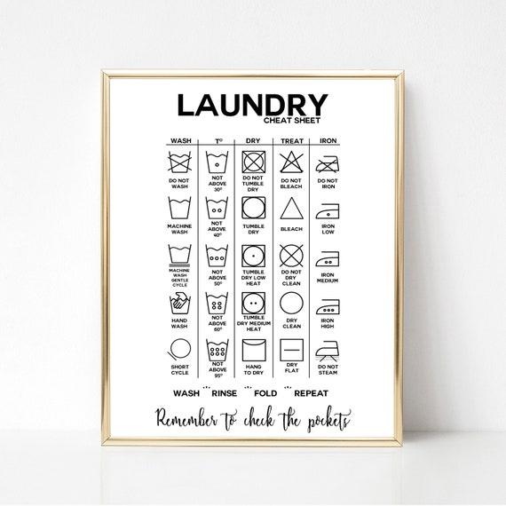 Laundry Symbols Laundry Guide Laundry Instructions Etsy