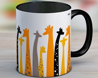 Gift for women, giraffe gift, giraffe mug, ceramic mug, cute mug, giraffe coffee mug, gift for her, coffee mug, tea cup, coffee lover gift