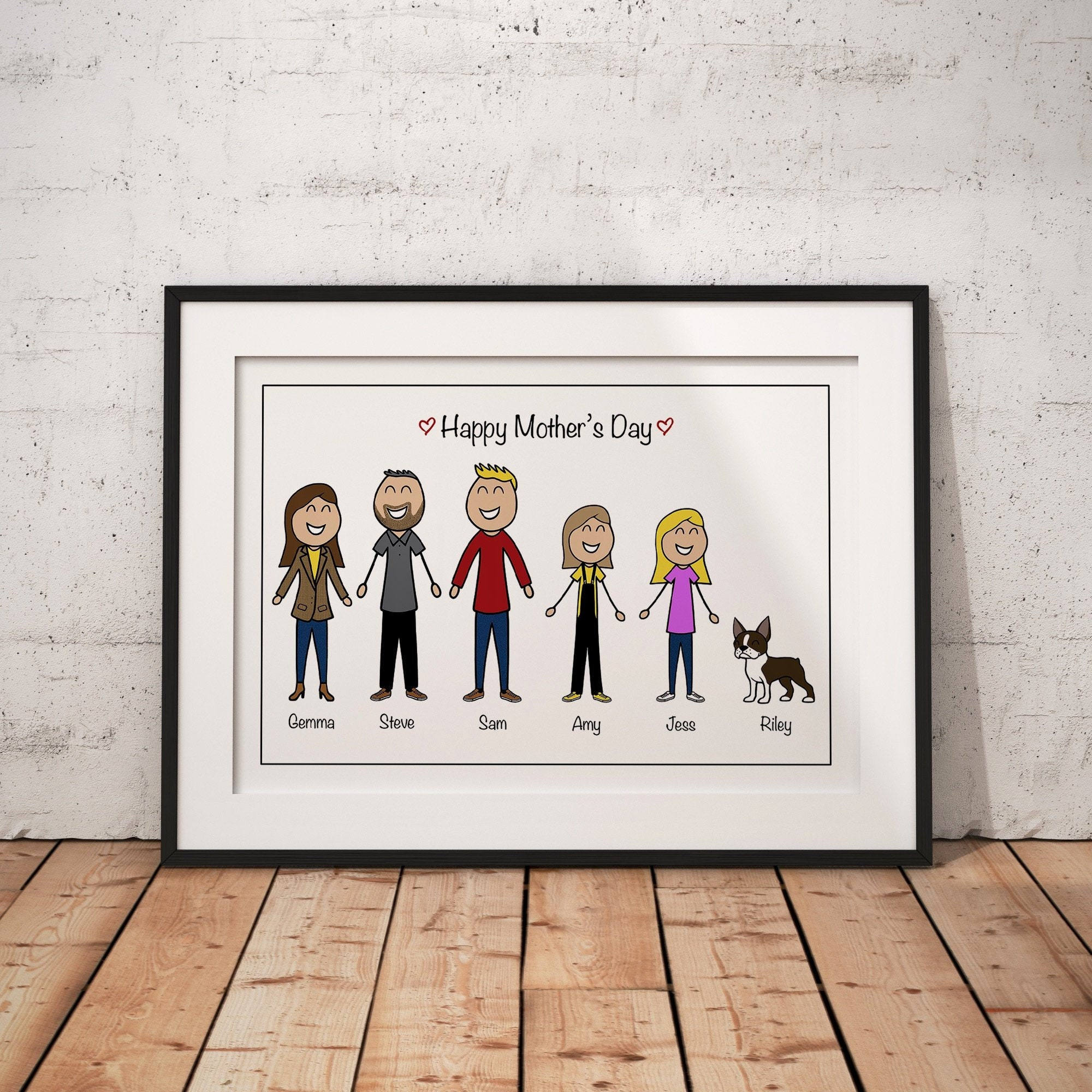 Personalised Mothers Day Gift Husband Etsy Jpg 2000x2000 Handmade Gifts Anniversary Boyfriend Birthday Doodles