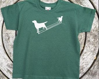 Labrador T Shirt  Shadow Style Lab Children's Dog Puppy Tee