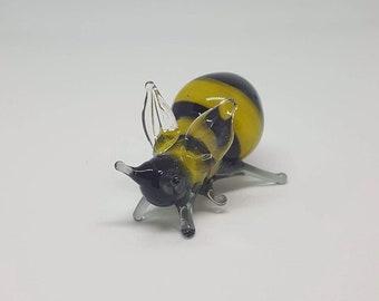 Bumble Bee Glass Figurine