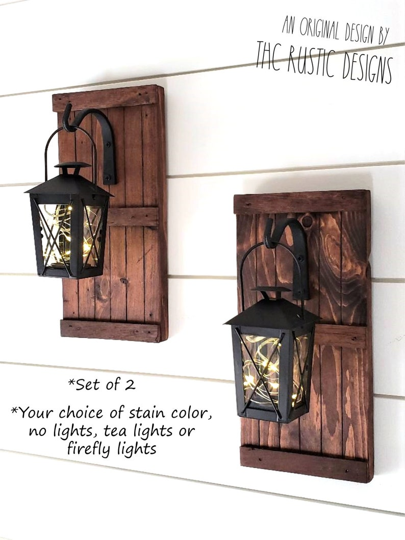 Hanging lantern sconces set of 2 lantern sconces hanging sconces rustic lantern sconces rustic wall barn door sconces lighted sconces