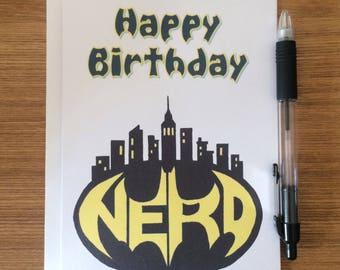 Batman birthday card etsy batman nerd bat signal birthday greetings card dc comics bruce wayne m4hsunfo