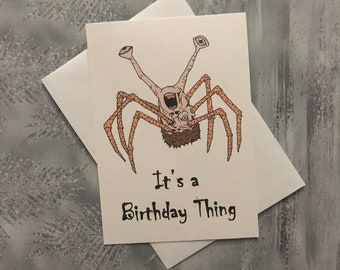 The Thing Kurt Russell horror film reference - Birthday 5x7 inch greetings card