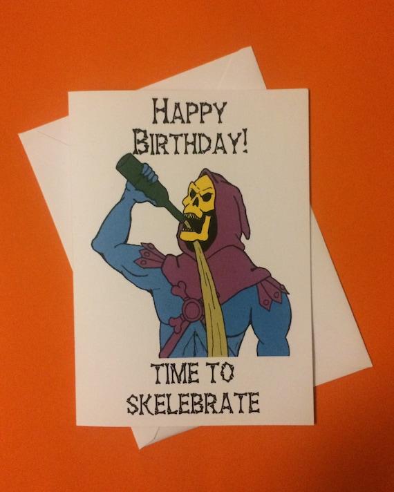 Skeletor he-man-Grüße Geburtstagskarte lustige Geeky 80 | Etsy