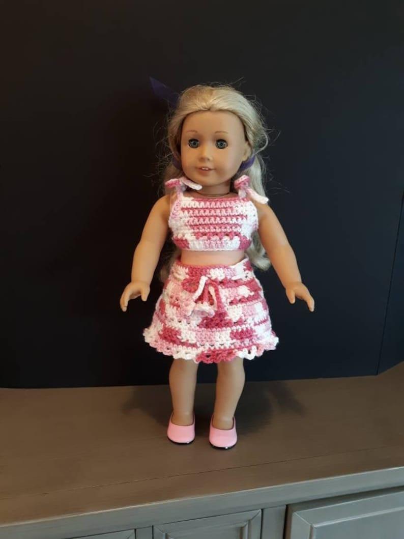 18 inch DOLL CROCHET SKIRT American Girl image 0