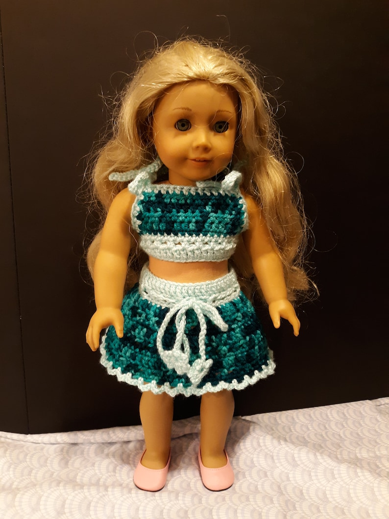 18 inch DOLL CROCHET SKIRT American Girl image 0