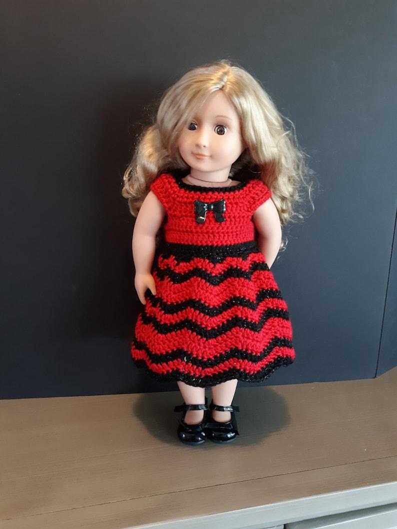 18 inch DOLL CROCHET DRESS American Girl image 0