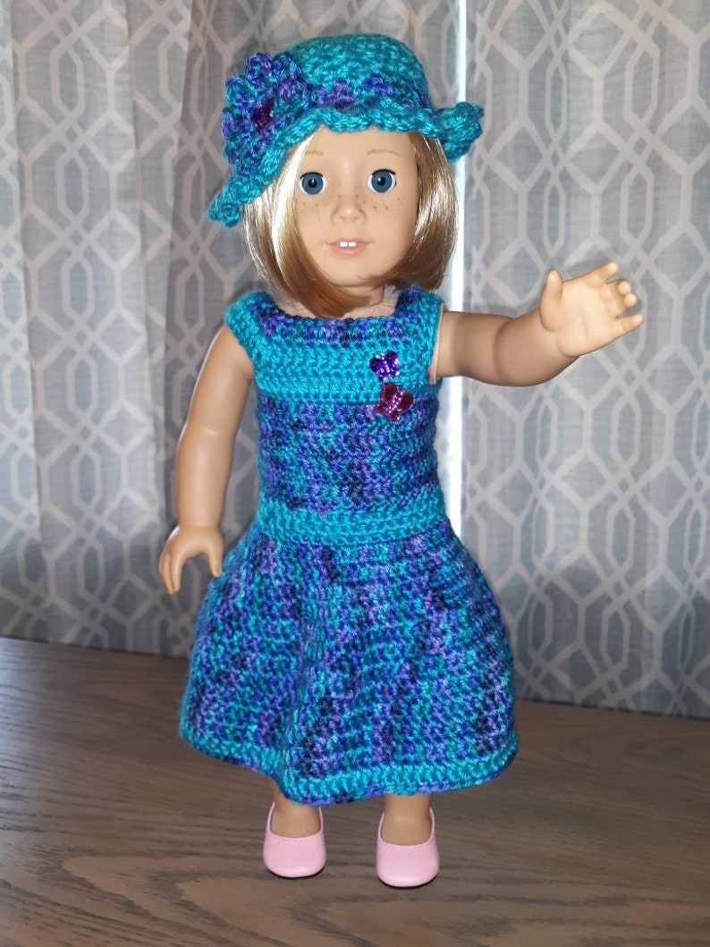 18 inch DOLL CROCHET DRESS American Girl dress image 0