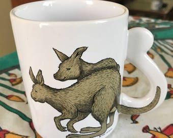 80's kangaroo mug!