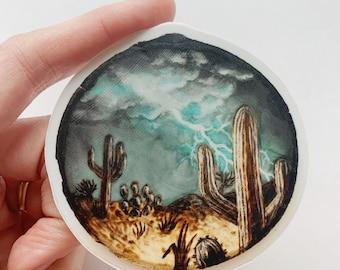 Desert Lightning - High Quality Vinyl Stickers Laptop Decal Landscape Aesthetic Sticker Christmas Gift
