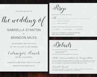 Simple Wedding Invitation Set