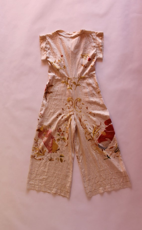 RARE 1930s beach pyjamas || 30s embroidered Germa… - image 5