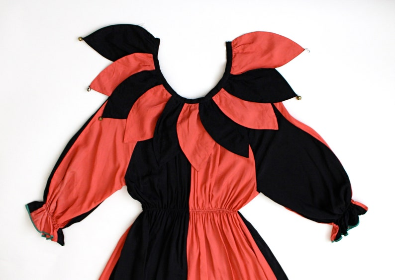9c1cd016ff6c RARE 1930s jester jumpsuit 30s rayon two-toned clown