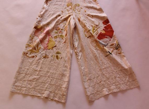 RARE 1930s beach pyjamas || 30s embroidered Germa… - image 7