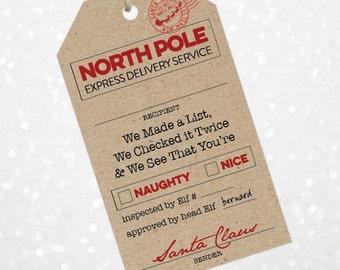 santa gift tags etsy
