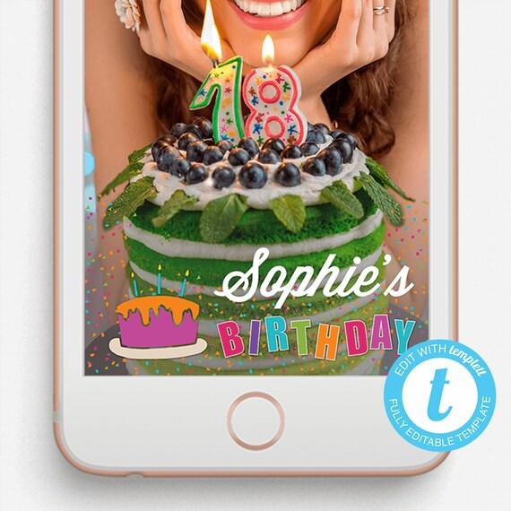 Birthday Snapchat Filter Birthday Snapchat Geofilter