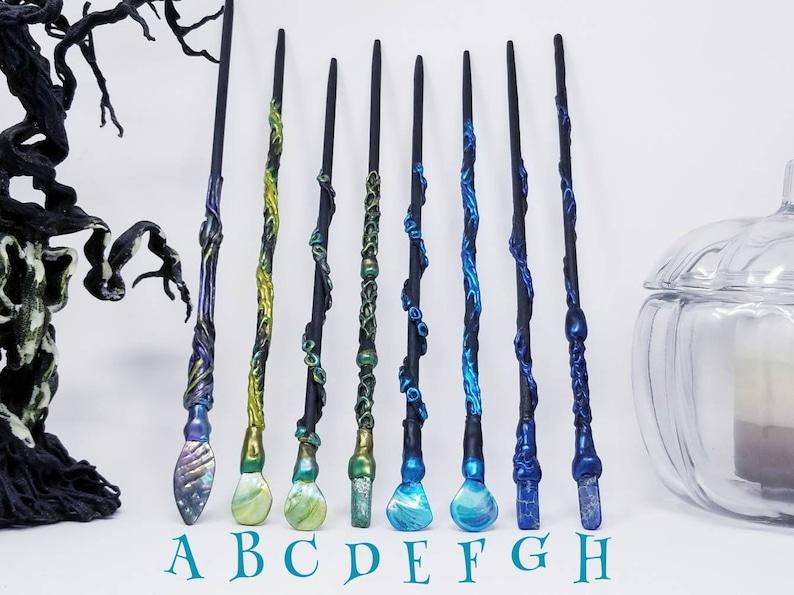 Witch Wand CrystalStoneAbalaloneShell Costume Wand Magic Wand Wizard Wand Mermaid Costume Witch Gift Accessory Witchcraft Wicca
