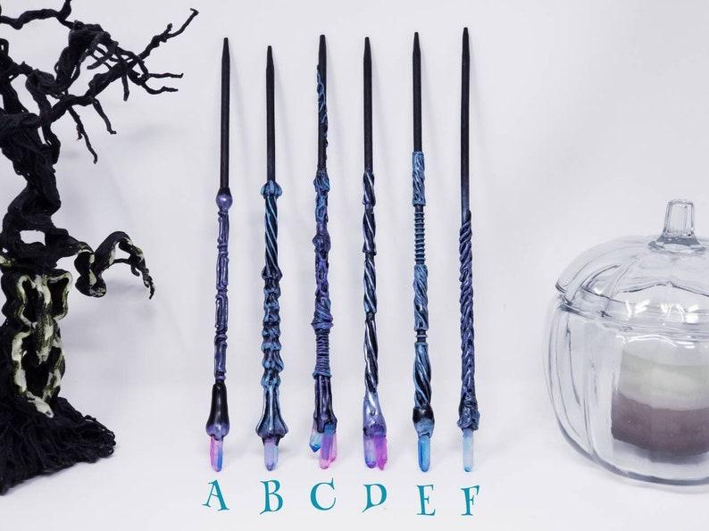Wicca Halloween Costume Wizard Wand Witch Gift Witchcraft Witch Accessory Witch Wand Witch Costume Wand Crystal Magic Wand