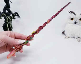 Lexie the Forest Ranger Witch Wand - Witch Gift - Magic Wands - Witch Wand - Wizard Wand - Witch Accessory Witchcraft Wicca