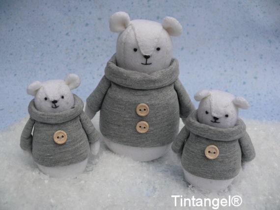 winter friends polar bear pdf pattern download etsy. Black Bedroom Furniture Sets. Home Design Ideas