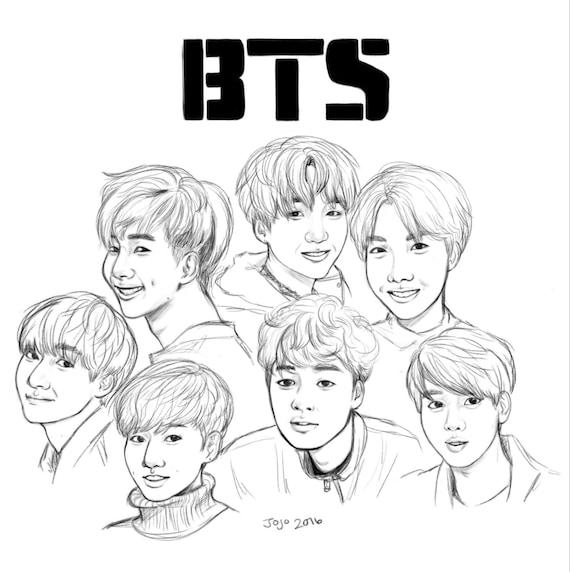 BTS Group \'Photo\' | Etsy