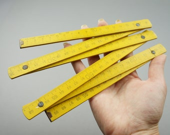 wooden ruler, folding ruler, vintage ruler, measurements, rural decoration, yellow ruler, antique ruler, ruler, ruler USSR