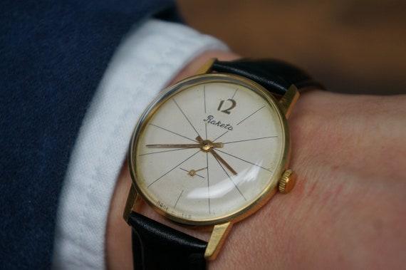 Mens wrist watch, Raketa watch, Antique watch, Bes