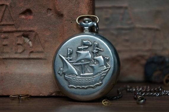 pocket watch, Soviet watch, USSR watch, men's watc