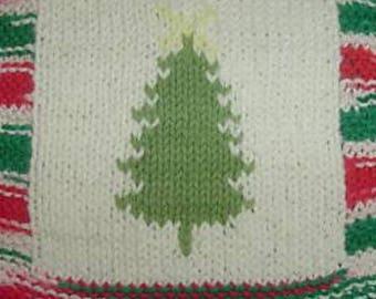 X-mas Tree cloth knit pattern
