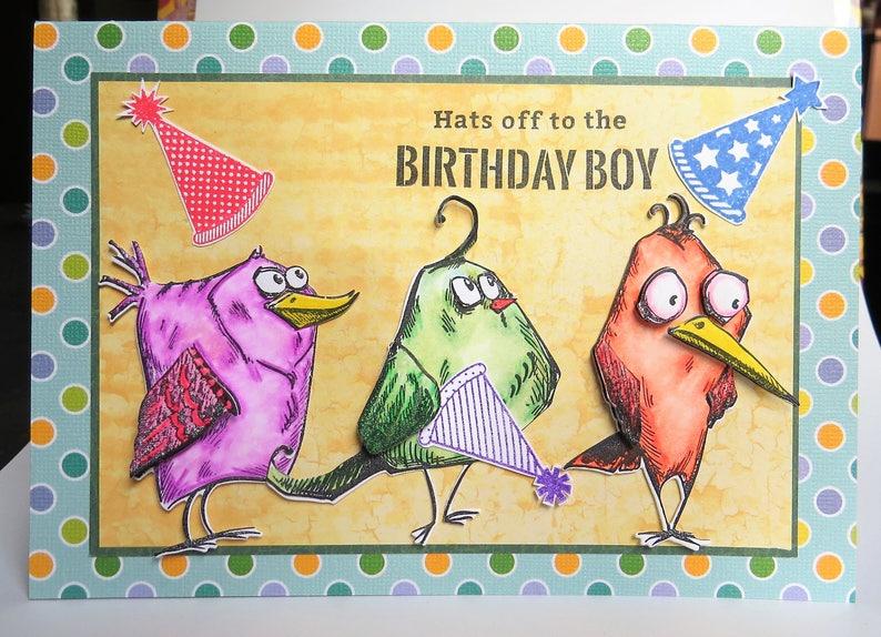 Funny Bird Birthday Card For Men Or Women Birthday Boy Or Girl