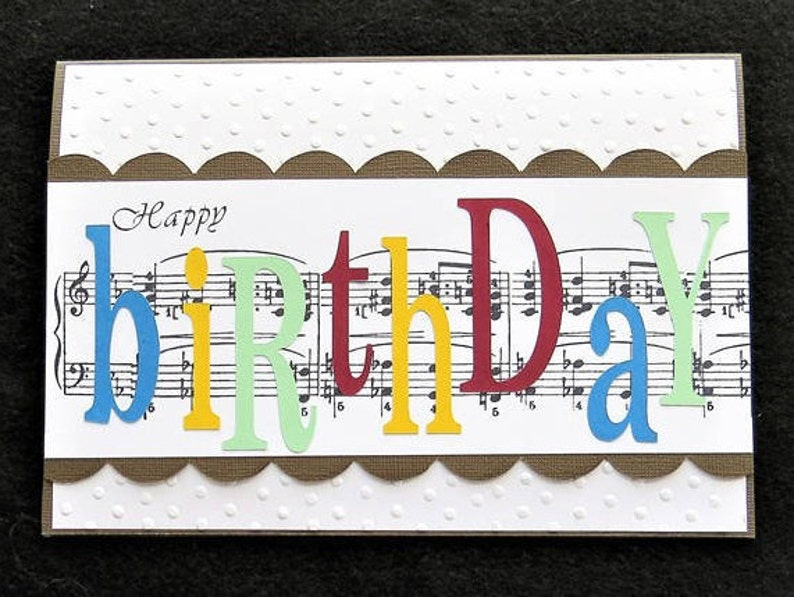 Music Note Birthday Card For The Lover