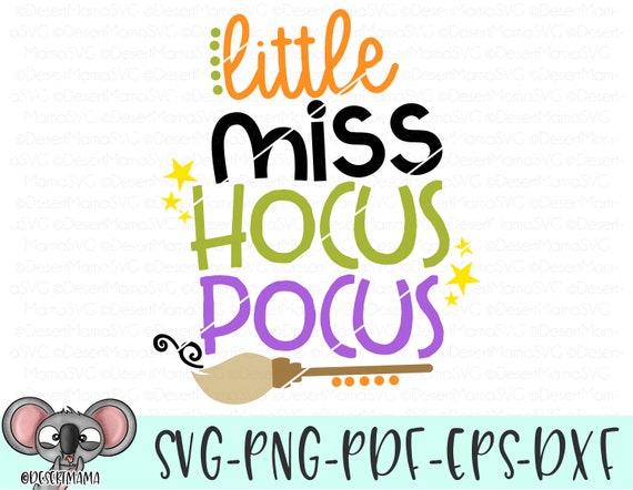 Little Miss Hocus Pocus Svg Dxf Cricut Cameo Cut File Etsy